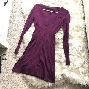 Forever 21 Fitted Sweater Mini Dress Long Sleeve N